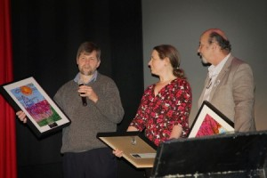 Spectrum Society co-directors Ernie Baatz, Susan Stanfield and Aaron Johannes-Rosenberg were this year's Big Picture Award winners.
