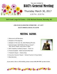 General Meeting Agenda Mar 2017